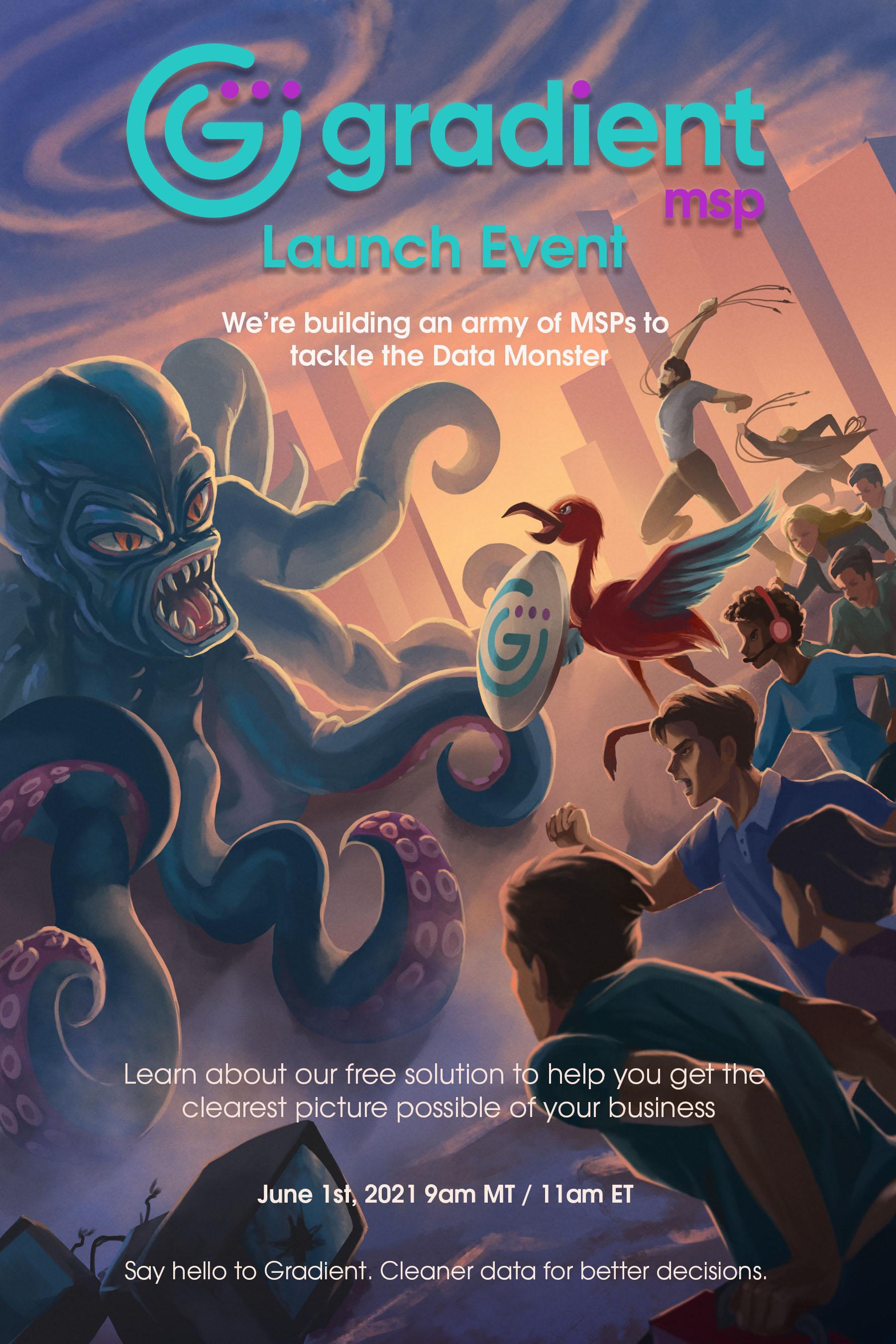 Gradient MSP June 1st launch poster